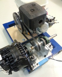 Small engine Closed Loop dyno using alternator as retarder